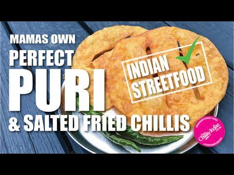 How to make Puri | STREET FOOD PURI | Fluffy Puri | Salted Fried Chillis