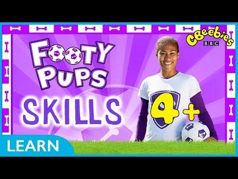 CBeebies | Footy Pups Football Skills | 4 Minutes