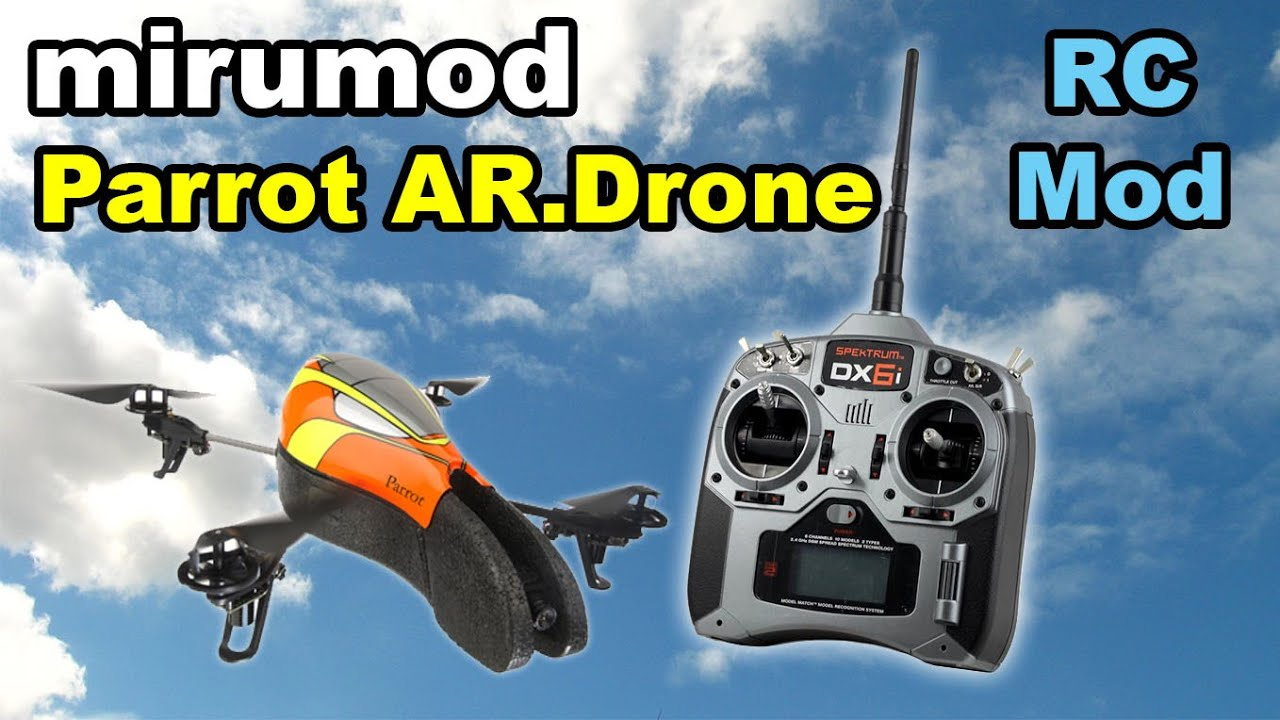 Parrot AR Drone mirumod - RC transmitter mod howto guide - YouTube