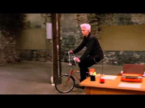 Jim Jarmusch rides a bike