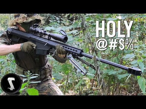 Barrett 50. Cal vs Airsoft Players (Painful)