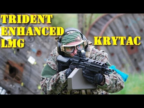 Airsoft - Krytac Trident LMG Enhanced [ENG sub]