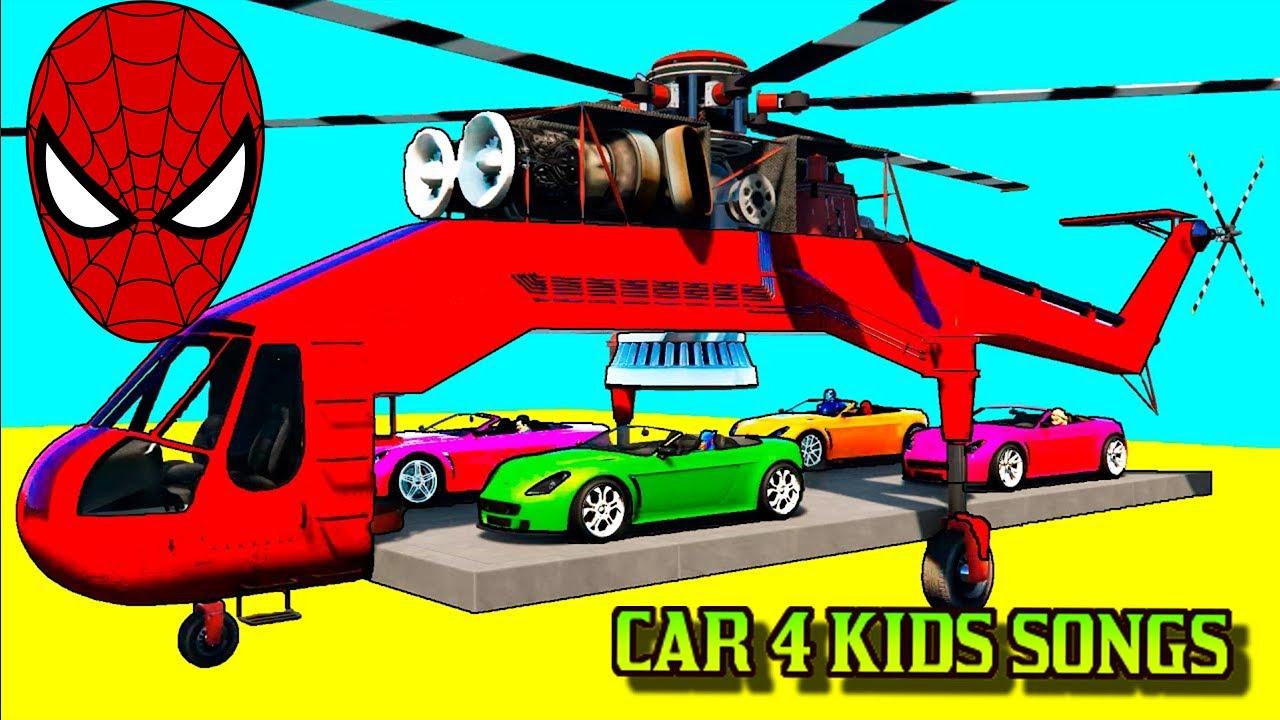 spiderman disney cars 4 kids mcqueen colors small tractors