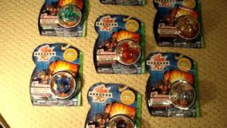 6 Legendary Bakugan Soldiers of Vestroia in the correct attributes