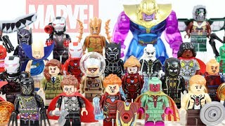 Avengers Infinity War Guardians of the Galaxy Iron Man Doctor Strange Unofficial LEGO Minifigures