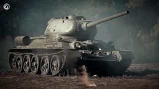 """Танки Т34 и ИС2 против """"Королевских тигров"""""""