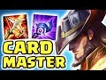 THE WORST CARDMASTER ON THE RIFT!! FULL AP TWISTED FATE MID | RED CARD BEST CARD - Nightblue3