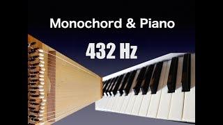 432 Hz Monochord and Piano