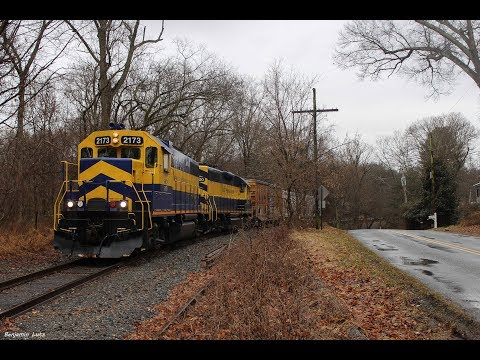 [HD] East Penn Running Up The Wilmington & Northern On A Sunday