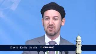 Jalsa Salana Qadian 2012 3RD Day 1ST Session David Coyle from Germany during his introductory speech