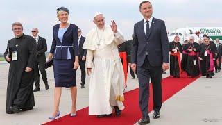 Telewizja Republika - ŚDM - Lądowanie Papieża Franciszka w Krakowie 2016-07-27