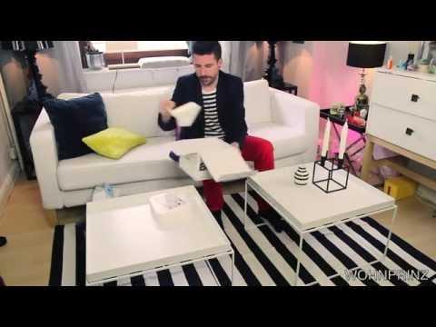 Wohnzimmer Gestalten - skandinavischer Stil | Schwarz & Weiß | #Wohnprinz |Kooperation