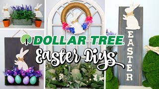 DOLLAR TREE DIYS | EASTER & SPRING FARMHOUSE DECOR | 4 EASY IDEAS
