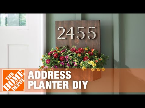 DIY House Number Planter | The Home Depot