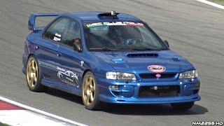 Subaru Impreza STi GC8 with LOUD External Turbo Wastegate SCREAMING @ Track!
