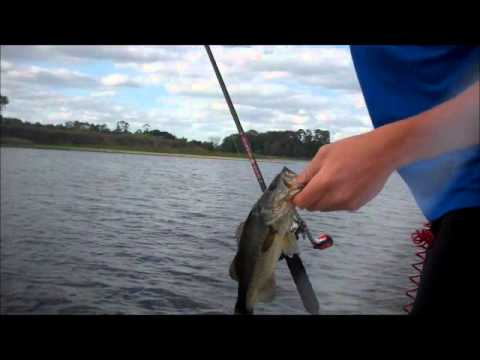 Bass fishing with big bear rods youtube for Fishing in big bear