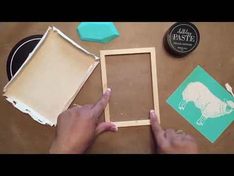 Dollar Tree Home Decor DIY-Reverse Canvas With Farm House Transfer From Chalk Couture