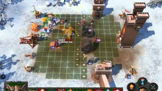 Heroes of Might & Magic 5 multiplayer - Game 1 (Dungeon/Fortress vs Academy) Double siege