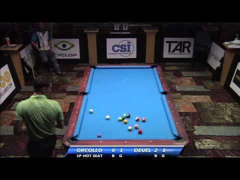 2014 US Open One Pocket (Hot Seat Match): Corey Deuel vs Dennis Orcollo