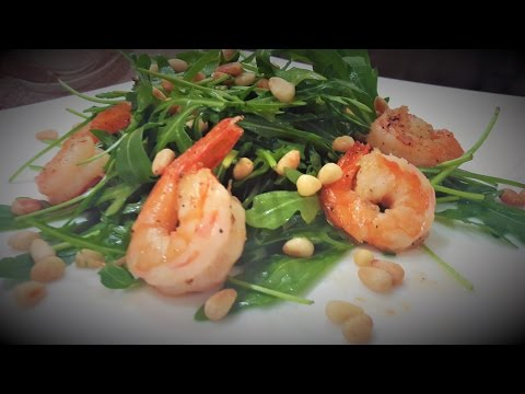 САЛАТ РУККОЛА С КРЕВЕТКАМИ / Arugula Salad With Shrimps