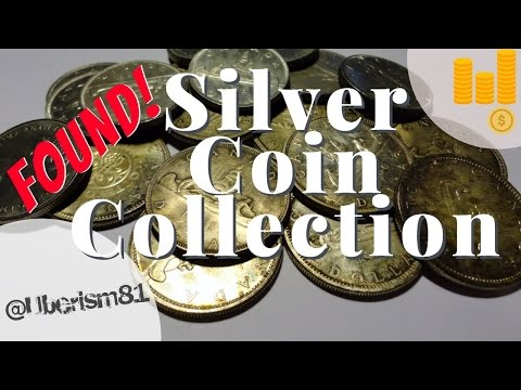 Silver coin collection found in a storage locker clean out!