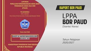 Raport Paud Bdr Disertai Narasi 2020 Youtube