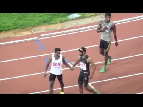 100m Run Men Final Senior Inter State Athletics Championship 2013 Chennai, Tamilnadu