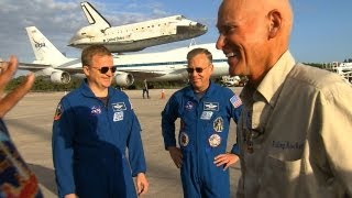 CBS Evening News with Scott Pelley - Astronauts say goodbye to space shuttle Discovery