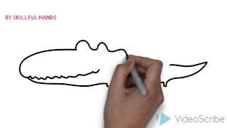 How to Draw a crocodile (for Kids) / Как нарисовать крокодила (Для детей)(Drawing Channel - https://www.youtube.com/channel/UCaZm6IvtL9zNeDwQi571asA/videos Канал для рисования ..., 2015-02-22T10:56:34.000Z)