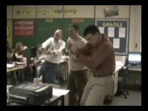 Hart Middle School teachers dancing