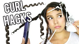 5 WEIRD Hair Curling Hacks You Need to Know!