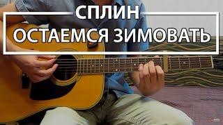 """Как играть """"Остаемся зимовать"""" - Сплин (Разбор, Аккорды, Табы)"""