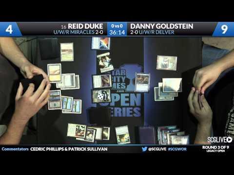 SCGWOR - Legacy - Round 3 - Reid Duke vs Danny Goldstein [Magic: the Gathering]