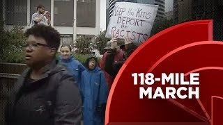 118-Mile Anti-White Supremacy March Culminates At MLK Memorial