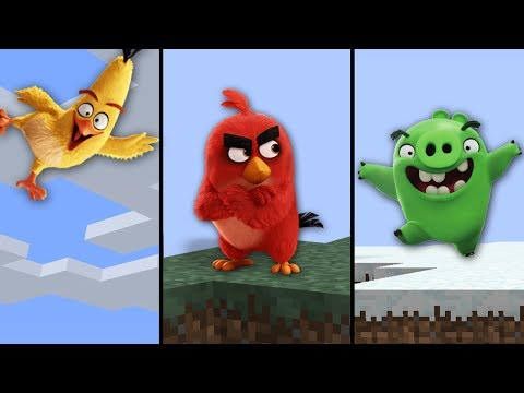 NOVOS ANGRY BIRDS NO MINECRAFT !!!