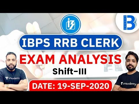 IBPS RRB Clerk Prelims (19 Sept 2020, 3rd Shift) | Exam Analysis & Asked Questions
