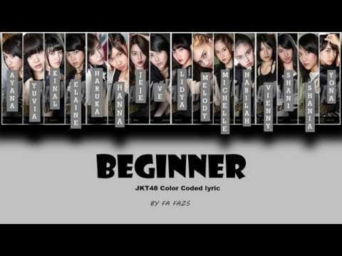 Beginner - JKT48 [Color Coded Lyrics]
