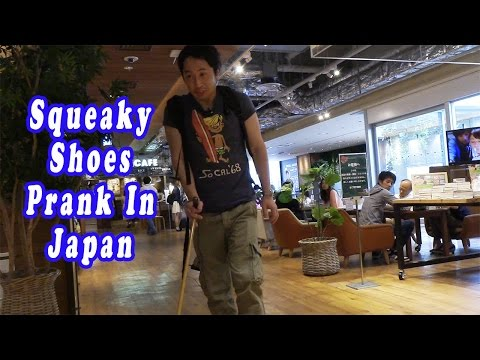 Squeaky Shoes In Public In Japan (Prank)