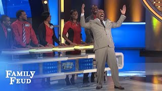 Steve meets the Mikula family! | Family Feud