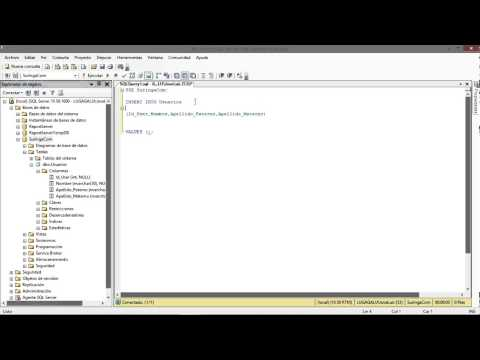 Insert o Insertar datos en una Tabla en SQL SERVER