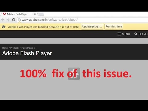 Adobe Flash Player Is Blocked