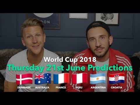 WORLD CUP P  Thursday 21st June