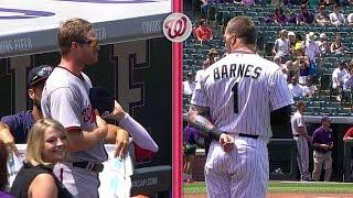 Barrett, Barnes start game with a standoff