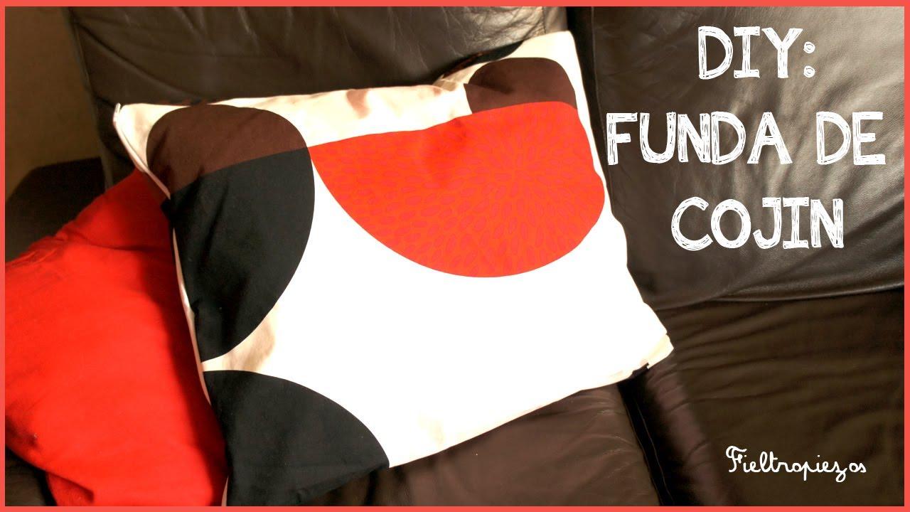 C mo hacer una funda de coj n con cremallera youtube - Hacer cojines sofa ...