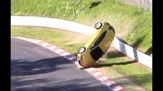 Heavy Roll Over Crash Opel Astra Nordschleife Nürburgring Touristenfahrten