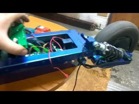 Электросамокат из гироскутера. Полный привод. Часть 2