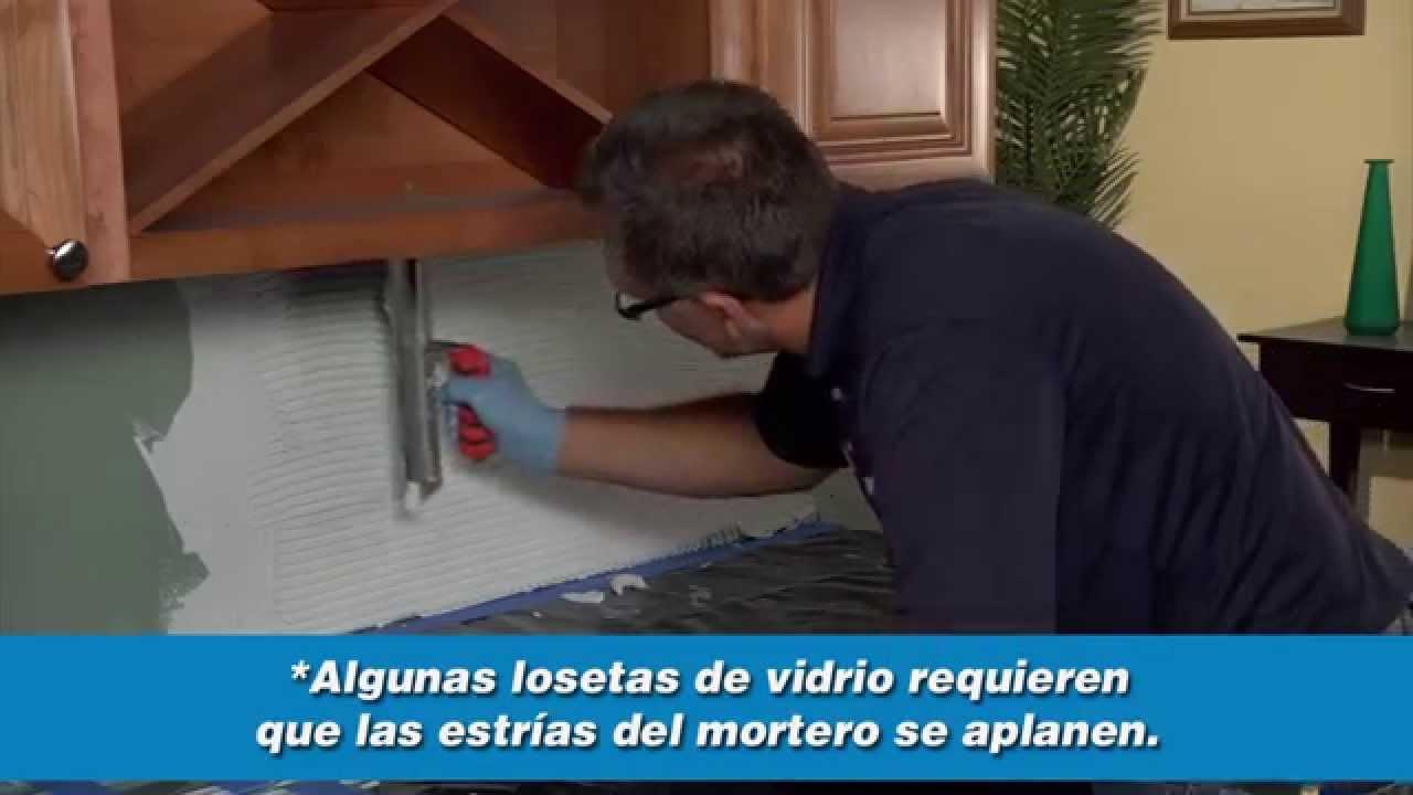 Instalaci n de salpicadero de cocina youtube - Cocinas en ele ...