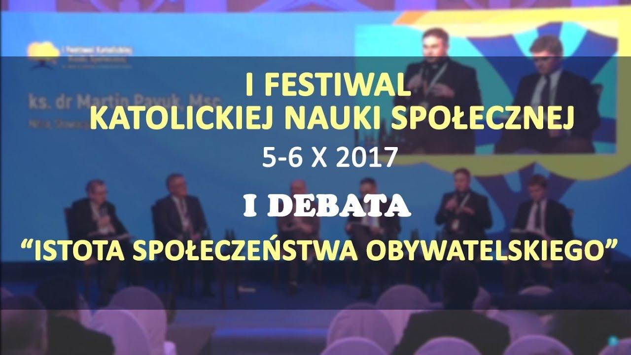 """""""Istota społeczeństwa obywatelskiego"""" – I debata ekspercka I Festiwalu KNS"""