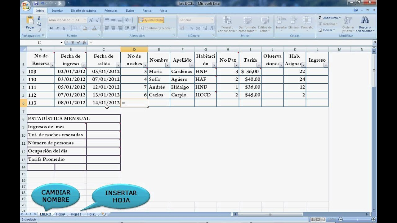 VIDEO PARA RESERVAS EN EXCEL - YouTube