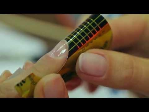 Наращивание ногтей гелем на формы